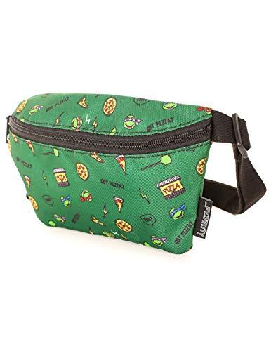 FYDELITY Ultra Slim Fanny Pack Belt Bag -NICK Nickelodeon TMNT Pizza Teenage Mutant Ninja Turtle |For Cute Funny Waist Pouch/Phanny/Bumbag/Backpack/School Kid/Boy/Girl/Teen/Men/Women/Gift/Accessories