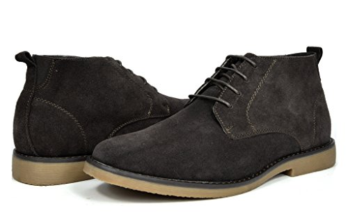 Bruno Marc Men's Chukka Dark Brown Suede Leather Chukka Desert Oxford Ankle Boots - 10 M US