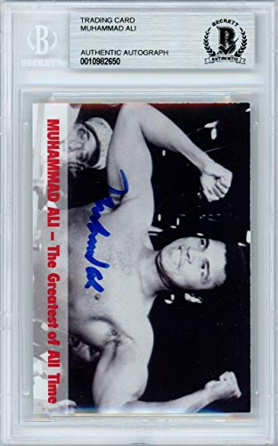 Collectors Edge Autographed Card (Muhammad Ali Autographed 1994 Collectors Edge Card Beckett BAS #10982650 - Beckett Authentication - Autographed Boxing Cards)