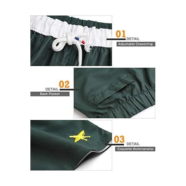 Lachi Costume Uomo Mare Asciugatura Rapida Costume da Bagno Pantaloncini Sportivi con Coulisse Taschino Serf Nuoto… 4 spesavip