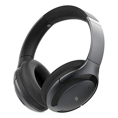 chollos oferta descuentos barato Mu6 Space1 Auriculares inalámbricos Bluetooth con Hybrid ANC cancelación de ruido activa Hi Fi sonido pausa y reproducción automática almohadillas memory foam casco diadema para vuelo tv pc