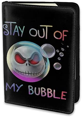 Jack The Skeleton Stay Out Of My Bubble ジャック・スケリントン パスポートケース メンズ レディース パスポートカバー パスポートバッグ 携帯便利 シンプル ポーチ 5.5インチ PUレザー スキミング防止 安全な海外旅行用 小型 軽便
