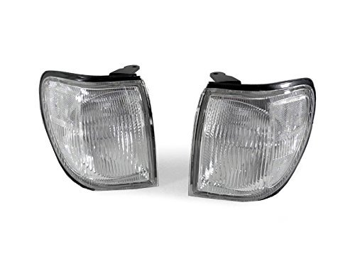 DEPO 1999-2004 Nissan Pathfinder LE SE XE Clear Corner Signal Light Set 4333259386