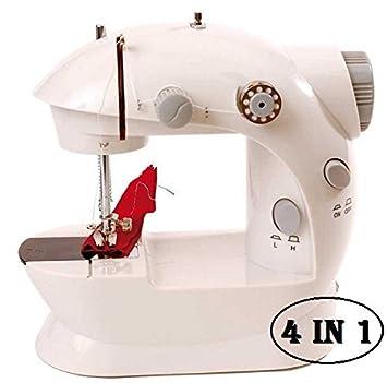 MEDIA WAVE store ® Máquina de coser portátil funciona pilas y corriente (4 en 1): Amazon.es: Hogar