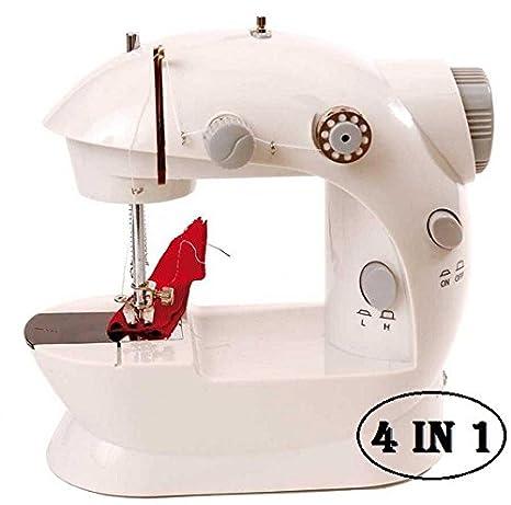 MEDIA WAVE store ® Máquina de coser portátil funciona pilas y corriente (4 en 1
