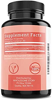 Myo-Inositol & D-Chiro Inositol Blend | Most Beneficial 40:1 Ratio | Hormonal Balance & Healthy Ovarian Function Support for Women | Vitamin B8 | Made in USA (120 Vegetarian Capsules)