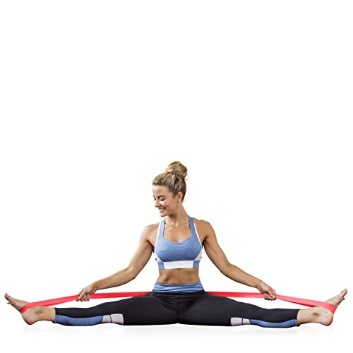 HEALTHYMODELLIFE Ballet Stretch Band by Healthy Model Life for Leg Stretching in Dance, Gymnastics, Cheerleading & Ice Skating - Gain Flexibility & Strength w/No Slip Grip by HEALTHYMODELLIFE