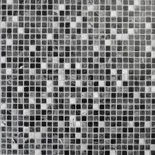 Extreme Black White Mosaic Tile Vinyl Flooring Kitchen
