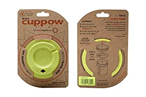 Cuppow Canning Jar Drinking Lid - Wide Mouth - Chartreuse