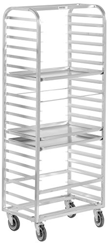 Channel Manufacturing 414A-DOR Double Section Side Load Aluminum Bun Pan Oven Rack - 20 Pan