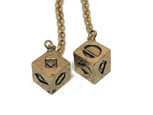 Smuggler's Dice Accurate Antique Weathered Gold Plated Solo Dice (Large) ()