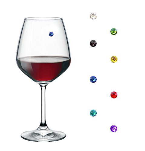 Magnetic Wine Charms - Drink Markers for Wine Glasses and any other Glass or Drinkware (8) ()
