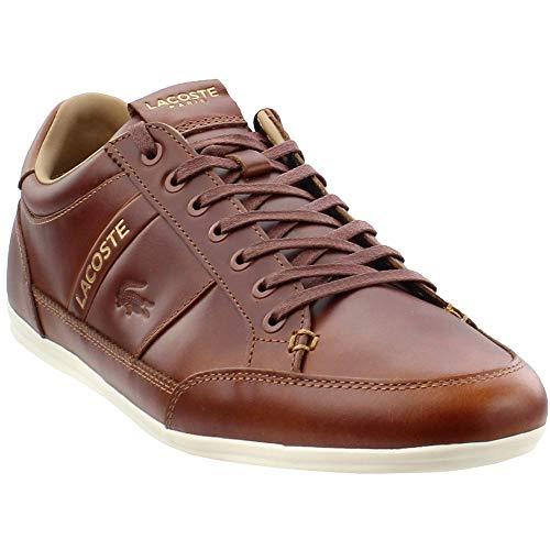 Lacoste Men's Chaymon Sneaker light tan/off white 8 Medium US