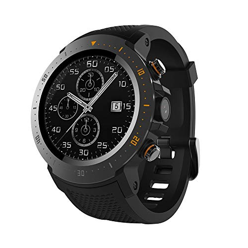 Smart watches A4 Clock 4G 530mAh 1+16GB Waterproof Luxury Sport GPS Watch Phone Pedometer Smartwatch for MI8 iOS Android Black ()