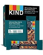 KIND Bars, Dark Chocolate Nuts & Sea Salt, Gluten Free, Low Sugar, 40 Grams, 12 Count