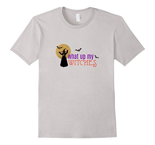 Out Of The Closet Halloween Costumes (Mens What Up My Witches Night Out Funny Halloween T Shirt Small Silver)
