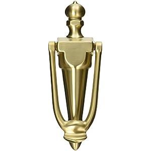Baldwin 0106033 French Door Knocker, Vintage Brass