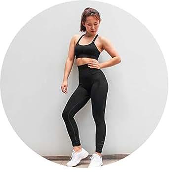 Amazon.com: Traje de yoga para mujer, sin costuras, para ...
