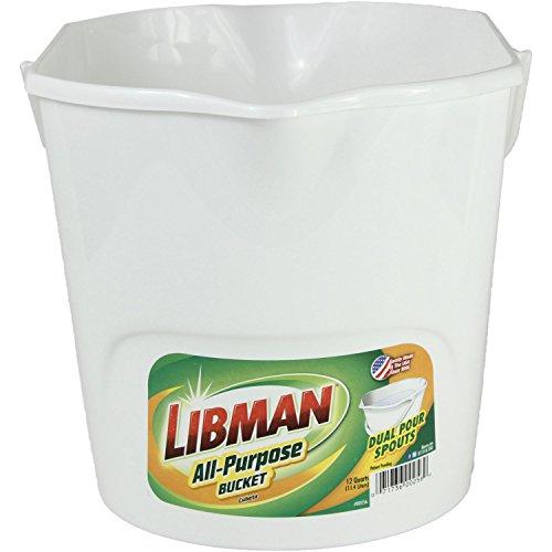 Libman Plastic All Purpose Bucket, 3 gallon