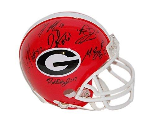 Todd Gurley Aaron Murray Chris Conley David Andrews Autographed Georgia Bulldogs Mini Helmet 9 signatures!