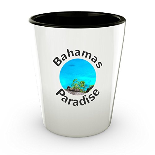 Bahamas Shot Glass Beautiful Turquoise Ocean Beach - Cute Gift - Perfect Gift For Birthday, Christmass, Men, Women, Friend, Ideal For