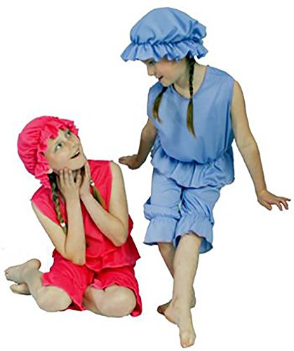 Dance Costumes Theater Musical (Theatre-Musical-World Book Day-Beauty & The Beast CHILD'S VICTORIAN BATHING BELLE Available in Blue or Red – All Ages (AGE 11-13,)