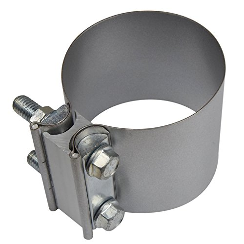 """3"""" Butt Joint Exhaust Sleeve Clamp - Aluminized Steel for 3"""