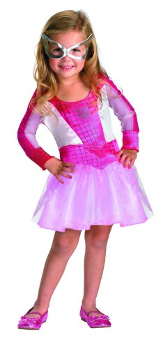 Marvel Spider Girl Toddler Costume (Marvel Spider-Girl Classic Costume, Pink, X-Small)
