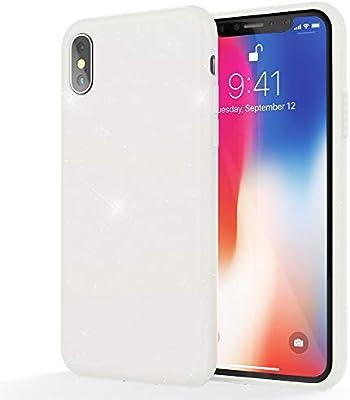 NALIA Glitter Funda Compatible con Apple iPhone X XS, Brillante ...