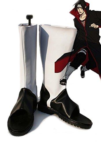 Naruto Anime Uchiha Itachi Cosplay Zapatos Botas Por Encargo