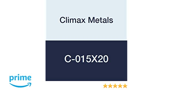 Climax Metals C-015X20 Shaft Collar with 8-32 x 1//8 Set Screw Zinc Plated Steel 1//4 Width Set Screw Style Pack of 20 7//16 OD One Piece 5//32 Bore