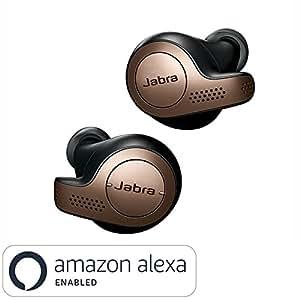 Jabra Elite 65t True Wireless Earbuds Bluetooth in-Ear Headphones with Earphones Charging Case & One-Touch Amazon Alexa & 15 Hours Battery, Copper Black