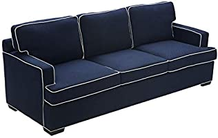 Awe Inspiring Tommy Hilfiger Cardiff Sofa American Navy With White Piping Dailytribune Chair Design For Home Dailytribuneorg