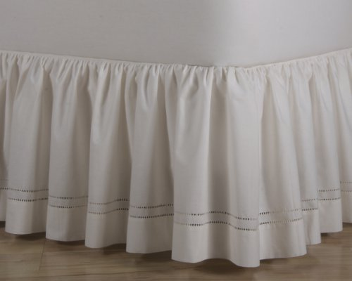 D. Kwitman and Son Hemstitch Gathered Bed Ruffle, 21-Inch...