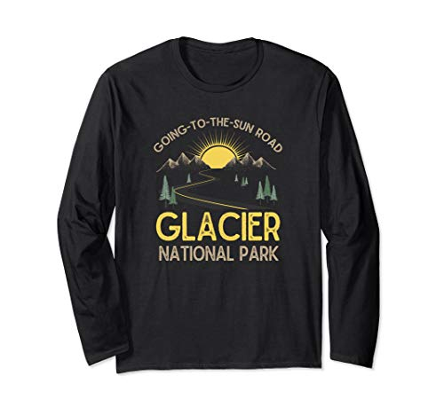 Going-To-The-Sun Road Glacier National Park Retro Montana Long Sleeve T-Shirt