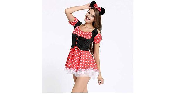 HUYKUO Disfraces Sexy Juego De Roles Sexy Navidad Halloween Minnie ...