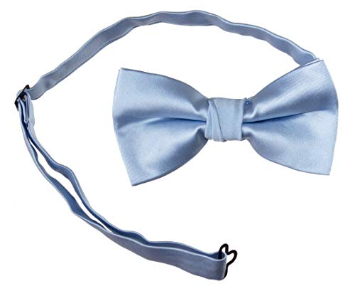 Pre Tied Adjustable Bow Ties in for Kids and Adults in Several Popular Colors (Baby Blue, ()