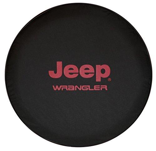 Jeep Wrangler Wheels Tires - SpareCover BR-j-wrangler-32-RED Brawny Series Black Denim 32