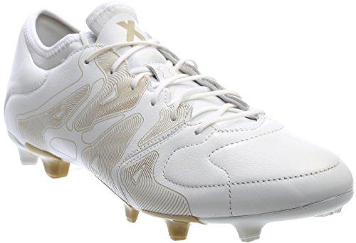 Adidas Etch Pack X 15.1 Fg / Ag Bianco Pelle