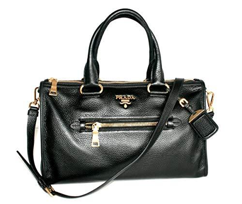 Prada Women's BL0805 Black Leather Shoulder Bag