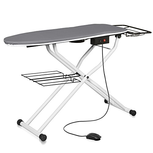 (Reliable The Board 500VB Home Vacuum and Up-Air Pressing Table Ironing Board, Height Adjustable, Quick-Dry Textured Polyester Cover, Laundry Rack, Tube Frame Construction, Heated Surface, Quick Fold)