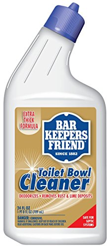 Bar Keepers Friend Toilet Bowl Cleaner (24 oz) - Extra Thick Formula Cleans and Deodorizes, Removes Rust Stains and Mineral Deposits ()