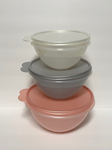 Pearl Platinum Cup (Tupperware Celebration 3pc Medium set of Wonderliers 3 1/4, 4 1/2, 7 Cup)