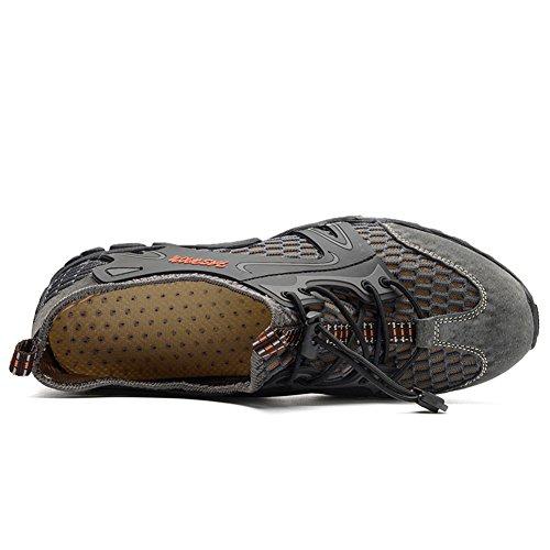 Originales grises de zapatos de los hombres cerdo escalada huecos gamuza piel de de casual wHwBZ4rOq