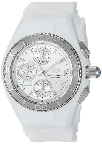 Technomarine Women's Cruise Stainless Steel Quartz Watch with Silicone Strap, White, 25 (Model: TM-115357 ()