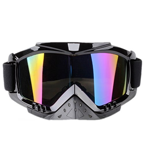 Adult Motorcycle Off-Road Dirt Bike Street Bike ATV&UTV Cruiser Adventure Touring Snowmobile Goggles Mask (Multicolor )