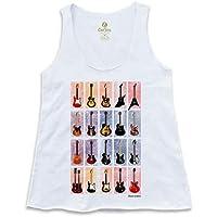 Camiseta Regata Feminina Rock Cool Tees Guitarras Classicas