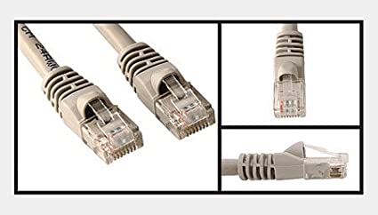 25 Ft Category 5 Enhanced CAT 5E Ethernet Network Patch Cable Gray color