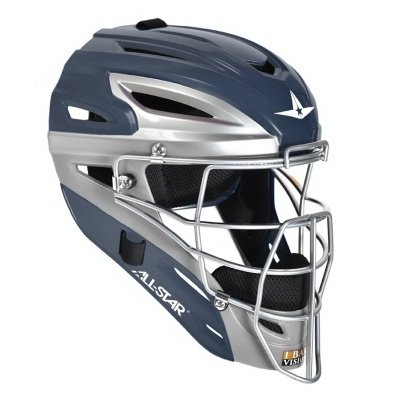 All Star System 7 Matte Youth Catchers Helmets Royal/Grey by All-Star