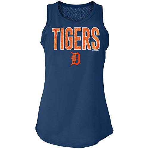 5th & Ocean Detroit Tigers Women's Mesh Back Tank Top-Shirt X-Large ()